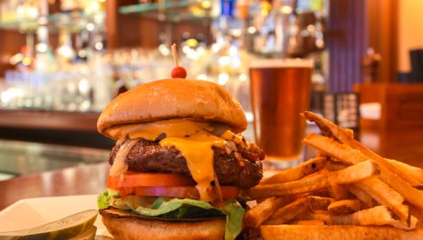 Bacon Onion Jam Burger Jo's American Bistro Discover Newport in Newport Rhode Island